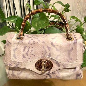 318315b0d09 Elaine Turner Bags | Bamboo Handle Satchel Champagne Nwot | Poshmark
